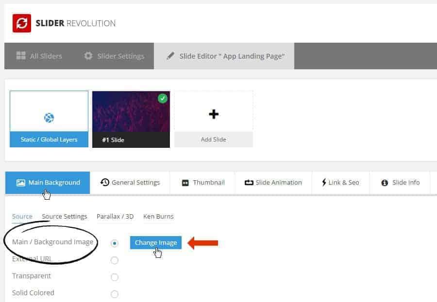 Hướng dẫn thay đổi hình ảnh Slider của Slider Revolution trên wordpress