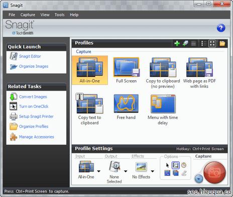 SnagIt là phần mềm chụp hình thường dùng của tôi