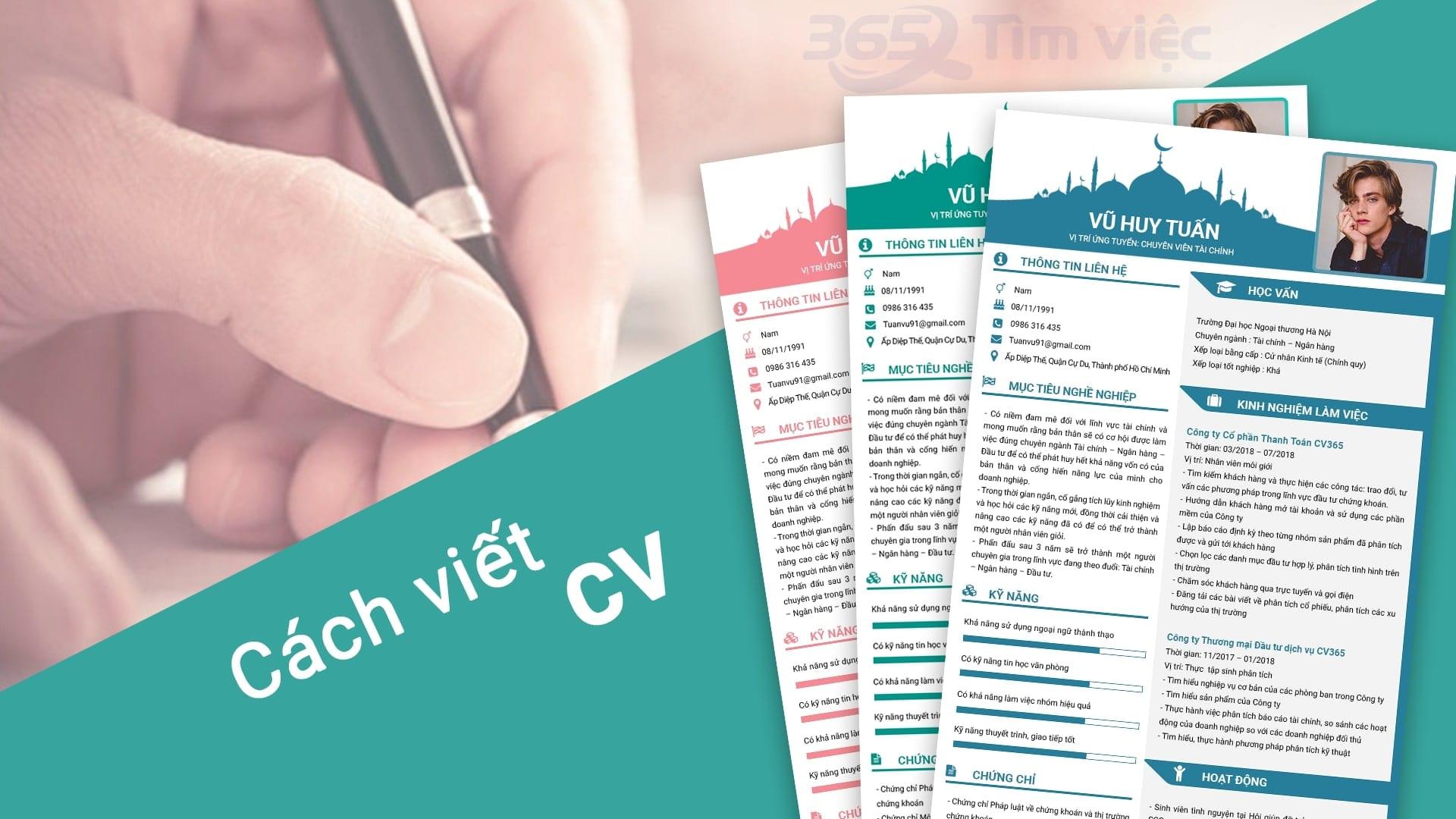 Hướng dẫn viết profile giới thiệu bản thân, ấn tượng với nhà tuyển dụng