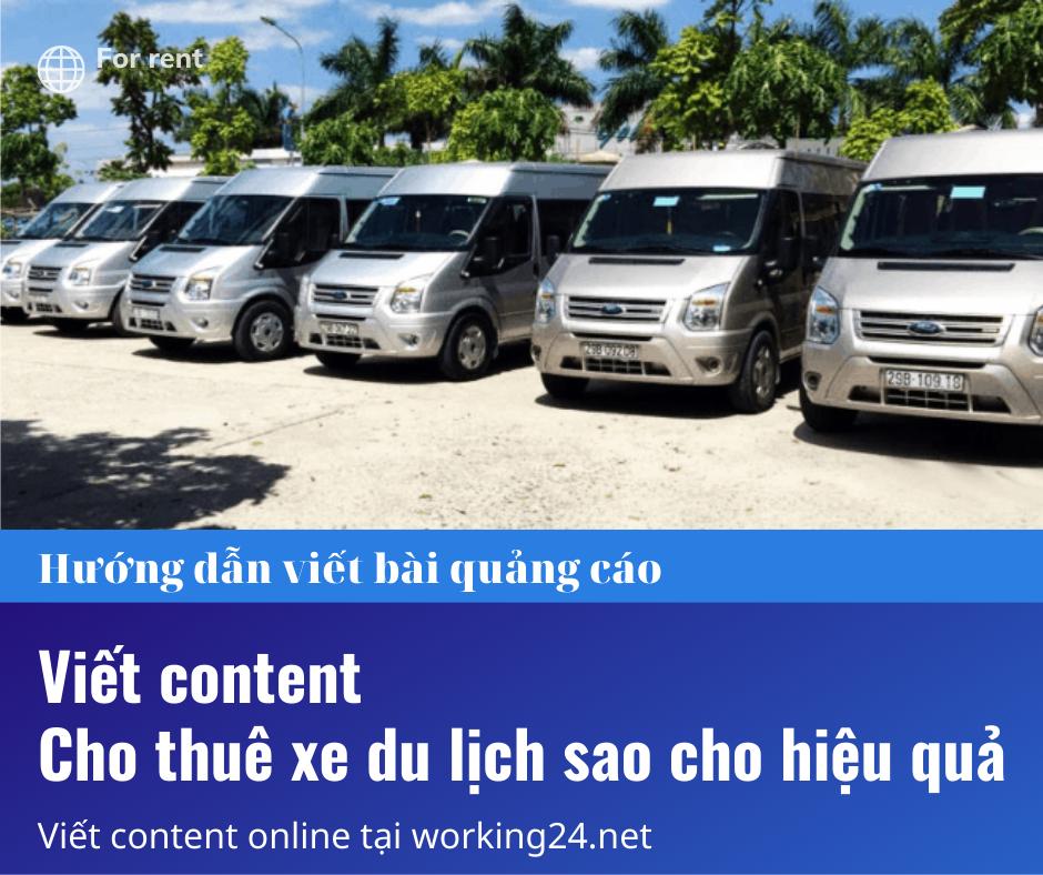 Read more about the article Hướng dẫn viết bài quảng cáo cho thuê xe du lịch hiệu quả